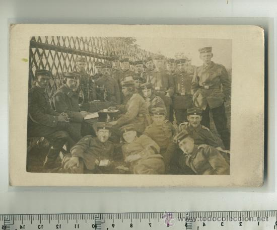 FOTO ORIGINAL GRUPO DE SOLDADOS ALEMANES 1ª G.M. (Postales - Postales Temáticas - I Guerra Mundial)