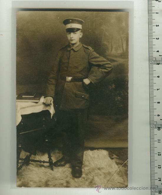 FOTO ORIGINAL DE SOLDADO ALEMÁN 1ª G.M. (Postales - Postales Temáticas - I Guerra Mundial)