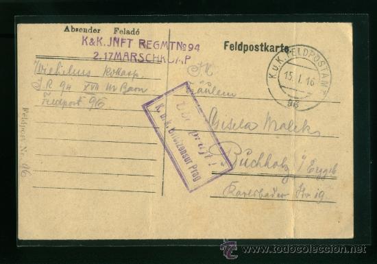 POSTAL ANTIGUA ALEMANA CIRCULADA (Postales - Postales Temáticas - I Guerra Mundial)
