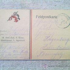 Postales: POSTAL ORIGINAL ALEMANA I GUERRA MUNDIAL. Lote 27641763