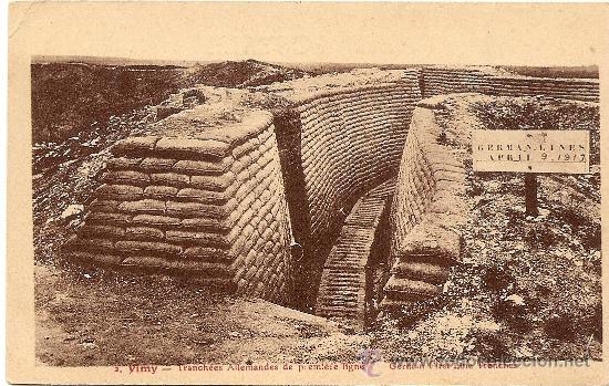 VIMY - TRINCHERAS ALEMANAS EN PRIMERA LINEA - ABRIL 1917 - SIN CIRCULAR (Postales - Postales Temáticas - I Guerra Mundial)