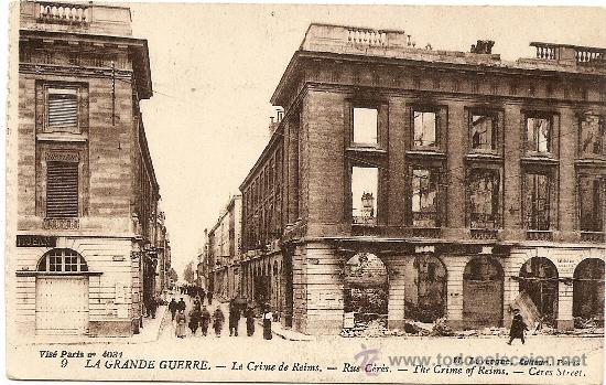LA GRANDE GUERRE - LE CRIME DE REIMS - SIN CIRCULAR (Postales - Postales Temáticas - I Guerra Mundial)
