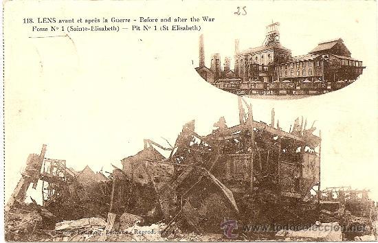 LENS AVANT ET APRES LA GUERRE - CIRCULADA (Postales - Postales Temáticas - I Guerra Mundial)