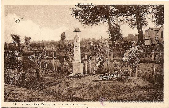 CEMENTERIO FRANCES - SIN CIRCULAR (Postales - Postales Temáticas - I Guerra Mundial)