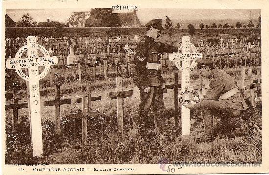 CEMENTERIO INGLES - SIN CIRCULAR (Postales - Postales Temáticas - I Guerra Mundial)