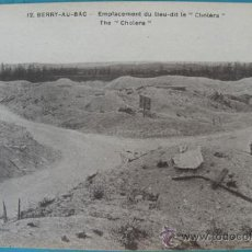 Postales: ANTIGUA POSTAL DE BEERY - AU - BAC - EMPLACEMENT DU LIEU-DIT LE CHOLERA - POSTAL FRANCESA DE LA 1ª G. Lote 22981897