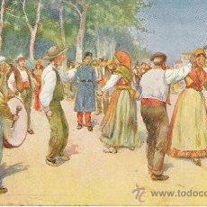 Postales: ANTIGUA POSTAL. GALICIA - LA MUÑEIRA. BAILES RGIONALES, SIN CIRCULAR.. Lote 24592199