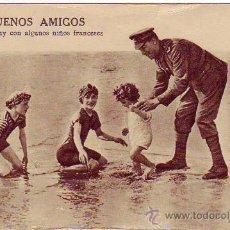 Postales: BUENOS AMIGOS - UN TOMMY CON ALGUNOS NIÑOS FRANCESES. Lote 25092925