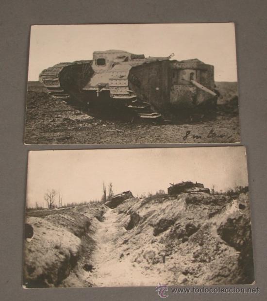 2 POSTALES. PRIMERA GUERRA MUNDIAL. ALEMANIA. 1914 - 1918. TANQUES. (Postales - Postales Temáticas - I Guerra Mundial)
