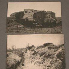 Postales: 2 POSTALES. PRIMERA GUERRA MUNDIAL. ALEMANIA. 1914 - 1918. TANQUES.. Lote 28468120
