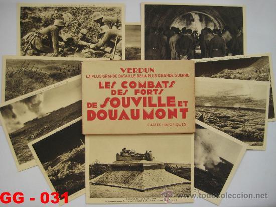 FRANCIA : LOTE DE 10 POSTALES DE LOS COMBATES DE SOUVILLE Y DOUAMONT. 1ª GUERRA MUNDIAL. (Postales - Postales Temáticas - I Guerra Mundial)