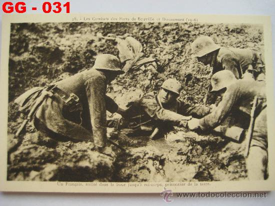 Postales: FRANCIA : LOTE DE 10 POSTALES DE LOS COMBATES DE SOUVILLE Y DOUAMONT. 1ª GUERRA MUNDIAL. - Foto 2 - 28748466