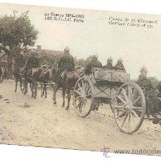 Postales: POSTAL MILITAR WW1 1914 1918 CANON ALEMAN DE 77. Lote 31350836