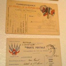 Postales: POSTALES ORIGINALES I GUERRA MUNDIAL RESELLADAS AÑO 1914 VER FOTOS. Lote 31401309