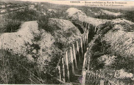 LOTE 4 POSTALES PRIMERA GUERRA MUNDIAL. VERDUN FUERTE DOUAUMONT FUERTE VAUX MONUMENTO CAPILLA ST (Postales - Postales Temáticas - I Guerra Mundial)