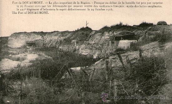 Postales: LOTE 4 POSTALES PRIMERA GUERRA MUNDIAL. Verdun Fuerte Douaumont Fuerte Vaux Monumento Capilla St - Foto 2 - 31996078