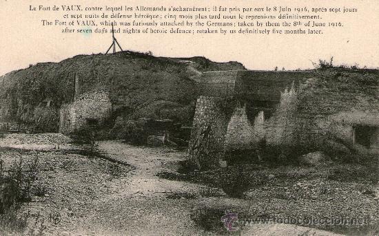 Postales: LOTE 4 POSTALES PRIMERA GUERRA MUNDIAL. Verdun Fuerte Douaumont Fuerte Vaux Monumento Capilla St - Foto 3 - 31996078