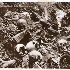 Postales: UNA TRINCHERA AU RAVIN DE LA MORT 1919. Lote 34219711