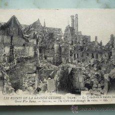 Postales: POSTAL LL. RUINAS DE LA I GUERRA MUNDIAL. SOISSONS (FRANCIA). FOTOGRAFÍA LEVY FILS & CIE. 1914-1918. Lote 35438233