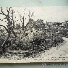 Postales: POSTAL LL. RUINAS DE LA I GUERRA MUNDIAL. OULCHES (FRANCIA). FOTOGRAFÍA LEVY FILS & CIE. 1914-1918. Lote 35438330