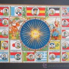 Postales: I GUERRA MUNDIAL. POSTAL CONMEMORATIVA PAZ UNIVERSAL.. Lote 37555604