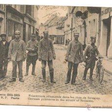 Postales: SOLDADOS ALEMANES PRISIONEROS EN EL AÑO 1915-POSTAL CIRCULADA. Lote 39567117