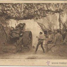 Postales: PRIMERA GUERRA MUNDIAL. FIRING A HEAVY HOWITZER IN FRANCE. SERIES 4. Nº 32. Lote 40990856