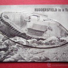 Postales: POSTAL VISTAS DE HUDDESFIELD IN A TANK. VER FOTOS.. Lote 179045245