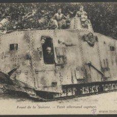 Postales: I GUERRA MUNDIAL - FRENTE DEL SOMA - TANQUE ALEMAN CAPTURADO - (19251). Lote 41558482