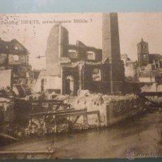 Postales: I G.M. DESTRUCCIÓN DE MOLINO EN RETHEL, NORTE DE FRANCIA, CIRCULADA 28/11/1915.. Lote 41728321