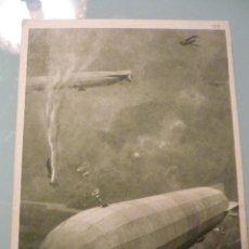 Postales: 1916 ZEPPELINES EN BATALLAS CON PILOTOS, ZENO DIEMER. DIFÍCIL DE ENCONTRAR. Lote 41729030
