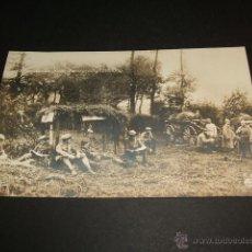 Postales: PRIMERA GUERRA MUNDIAL TROPAS DESCANSANDO POSTAL FOTOGRAFICA ALEMANA. Lote 44001761