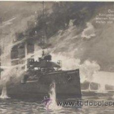 Postales: 21 SEPTIEMBRE DE 1914. EL CRUCERO ALEMÁN KONIGSBER HUNDE AL CRUCERO PEGASUS.. Lote 44013840