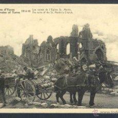 Postales: FRANCIA. YPRES. *RUINES D´YPRES 1914-1918. LES RUINES DE L´EGLISE ST. MARTIN* NUEVA.. Lote 44693445