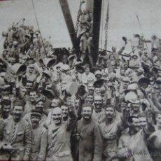Postales: POSTAL I GUERRA MUNDIAL. DESEMBARCO TROPAS FRANCESAS SALÓNICA. 1915. EN ESPAÑOL. ALEX. JOUVENE, EDIT. Lote 46372408