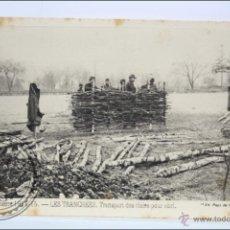 Postales: ANTIGUA POSTAL 93. GUERRE 1914-15 - LES TRANCHÉES. TRANSPORT DES CLAIES... - I GUERRA MUNDIAL / IWW. Lote 47793014