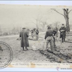 Postales: POSTAL ANIMADA 94. GUERRE 1914-15 - LES TRANCHÉES. OFICIAL TRAÇANT... - I GUERRA MUNDIAL / IWW. Lote 47793043
