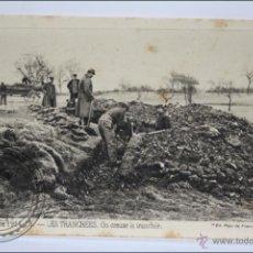 Postales: POSTAL ANIMADA 98. GUERRE 1914-15 - LES TRANCHÉES. ON CREUSE LA TRANCHÉE - I GUERRA MUNDIAL / IWW. Lote 47793150