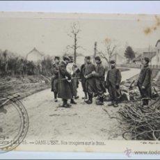 Postales: POSTAL ANIMADA 104. GUERRE 1914-15 - DANS L'EST. NOS TROUPIERS SUR... - I GUERRA MUNDIAL / IWW. Lote 47793365