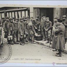 Postales: POSTAL ANIMADA 105. GUERRE 1914-15 - DANS L'EST. DISTRIBUTION DE SOUPE - I GUERRA MUNDIAL / IWW. Lote 47793383