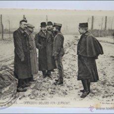 Postales: ANTIGUA POSTAL ANIMADA 110. GUERRE 1914-15 - OFFICIERS BELGES SUR LE FRONT - I GUERRA MUNDIAL / IWW. Lote 47793532