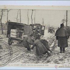 Postales: POSTAL ANIMADA 111. GUERRE 1914-15 - ARMÉE BELGE. ARRIVÉE DES CAISSES... - I GUERRA MUNDIAL / IWW. Lote 47793563