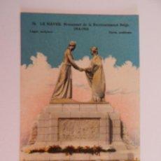 Postales: * LE HAVRE: MONUMENT DE LA RECONNAISSANCE BELGE. 1914-1918. Lote 47972888
