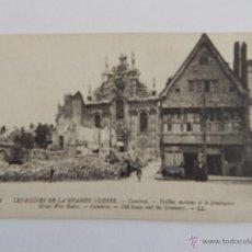 Postales: LES RUINES DE LA GRANDE GUERRE: CAMBRAI. VIEILLES MAISONS ET LE SÉMINAIRE. Lote 48487960
