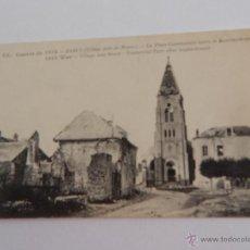 Postales: GUERRE DE 1914. BARCY: LA PLACE COMMUNALE APRÈS LE BOMBARDEMENT. Lote 48507832