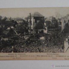 Postales: GUERRE 1914-15-16-17… BUCQUOY. LES RUINES. RETRAITE DES ALLEMANDS. Lote 48556647