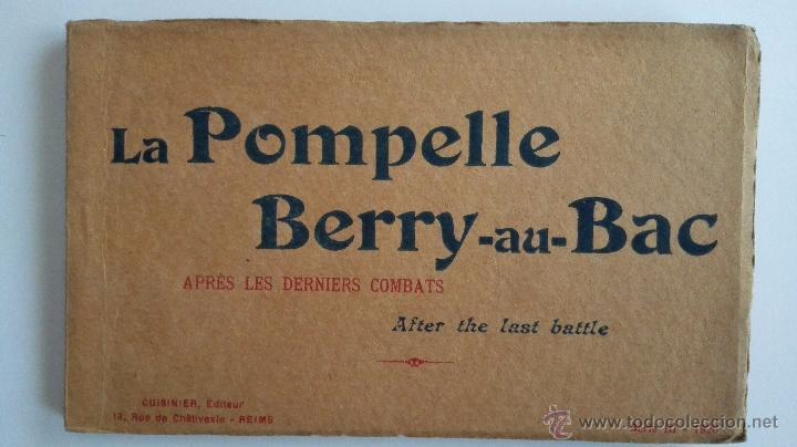 BLOQUE DE 16 POSTALES, LA POMPELLE BERRY - AU - BAC, - DESPUES DE LA ULTIMA BATALLA (Postales - Postales Temáticas - I Guerra Mundial)