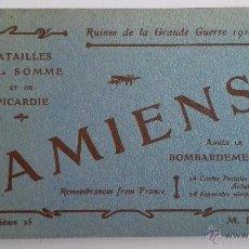 Postales: BLOQUE 24 POSTALES, AMIENS RUINAS DE LA GRAN GUERRA 1914-1918. Lote 49236664