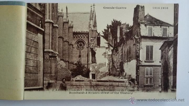 Postales: BLOQUE 24 POSTALES, AMIENS RUINAS DE LA GRAN GUERRA 1914-1918 - Foto 2 - 49236664