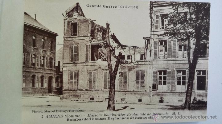Postales: BLOQUE 24 POSTALES, AMIENS RUINAS DE LA GRAN GUERRA 1914-1918 - Foto 3 - 49236664